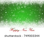 new year snowflakes and... | Shutterstock .eps vector #749003344