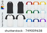 baseball t shirt. raglan v neck ... | Shutterstock .eps vector #749009638