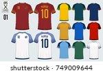 t shirt sport design for soccer ... | Shutterstock .eps vector #749009644