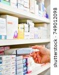 closeup pharmacist hand holding