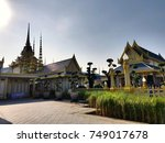 around royal cremation | Shutterstock . vector #749017678