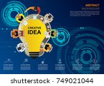business meeting and...   Shutterstock .eps vector #749021044