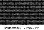 binary code vector background... | Shutterstock .eps vector #749023444