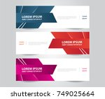 set of modern colorful banner... | Shutterstock .eps vector #749025664