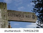 wooden signpost pointing the... | Shutterstock . vector #749026258