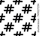 hashtagand star icon seamless... | Shutterstock .eps vector #749027254