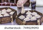 bun halal street food in muslim ...   Shutterstock . vector #749029093