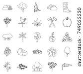 copse icons set. outline set of ... | Shutterstock .eps vector #749033230