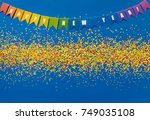 new year's decor. multicolored... | Shutterstock . vector #749035108
