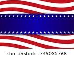 banner advertising  blank blue  ... | Shutterstock .eps vector #749035768