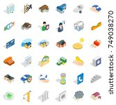 home repair icons set.... | Shutterstock .eps vector #749038270