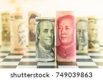 world economy and forex  ... | Shutterstock . vector #749039863