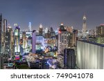 city constructions view at... | Shutterstock . vector #749041078