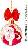 illustration of santa claus... | Shutterstock .eps vector #749041630
