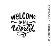 hand drawn lettering welcome to ... | Shutterstock .eps vector #749041873