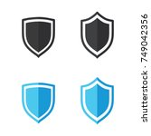 shield vector icon | Shutterstock .eps vector #749042356