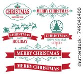 christmas background vector... | Shutterstock .eps vector #749043400