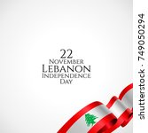 22 november. lebanon happy... | Shutterstock .eps vector #749050294