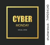 cyber monday sale background.... | Shutterstock .eps vector #749054140