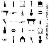 beauty icon set | Shutterstock .eps vector #749058130