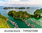 floating fishing village and... | Shutterstock . vector #749065588