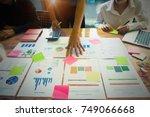 business people meeting design... | Shutterstock . vector #749066668