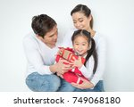 happy family mother  father ... | Shutterstock . vector #749068180