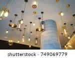 vintage lighting   light bulbs   Shutterstock . vector #749069779