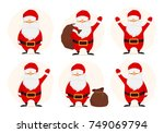 collection of cute christmas... | Shutterstock .eps vector #749069794