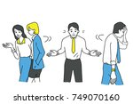 funny illustration character of ... | Shutterstock .eps vector #749070160