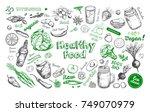 healthy food. vegetarian big... | Shutterstock .eps vector #749070979
