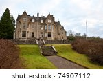 Country Manor in western Scotland - stock photo