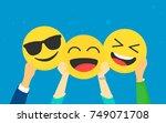 emoji concept vector... | Shutterstock .eps vector #749071708