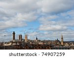 The skyline of Glasgow, Scotland - stock photo