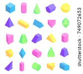 multicolored geometric shapes... | Shutterstock .eps vector #749072653