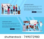 corporate party web page with... | Shutterstock .eps vector #749072980
