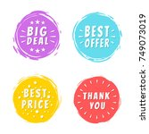 big deal best offer price thank ... | Shutterstock .eps vector #749073019