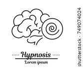 graphic logo  icon. hypnosis... | Shutterstock . vector #749074024