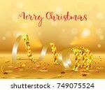 Golden Streamer With Sparkling...