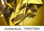 polygonal gold mosaic...   Shutterstock . vector #749077804