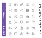 line icons set. security pack.... | Shutterstock .eps vector #749081464
