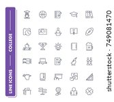 line icons set. college pack....