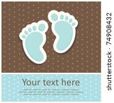 Baby Boy Announcement Card....