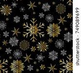 snowflake winter design season...   Shutterstock .eps vector #749089699
