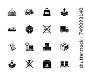 cargo icons   expand to any... | Shutterstock .eps vector #749093140