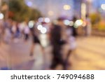 street lights  street motion ... | Shutterstock . vector #749094688