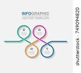 vector infographic template for ...   Shutterstock .eps vector #749094820