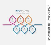 vector infographic template for ... | Shutterstock .eps vector #749095474