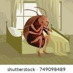 metamorphosis cockroach   Shutterstock .eps vector #749098489