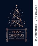 merry christmas and happy new... | Shutterstock .eps vector #749101084